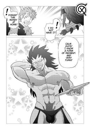 Stockings Gajeel getting paid- Dragon ball z hentai Fairy tail hentai Gym Clothes