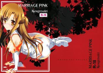 Hand Job MARRIAGE PINK- Sword art online hentai Stepmom